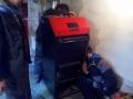 Instalace kotle-usazení