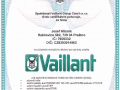 Certifikát Vaillant