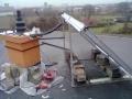 Montáž solárních panelů(rovná střecha)